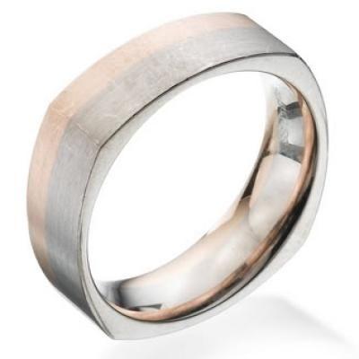 Verigheterealizate din aur alb si aur roz de 14k.  Modelul de  verighete  are o latime de 6mm si 1,8mm grosime.  Verighetele se pot realiza din diferite culori de aur (aur alb, aur galben, aur roz) sau combinate cu platina, paladiu.  Se pot tintuii si pietre pretioase ( diamant , safir, rubin, smarald) sau semipretioase (ametist, citrin, tanzanit s.a.). Gravura interioara este oferita gratuit din partea firmei Roxandy.  Se poate folosi si materialul clientului ( aur , platina , paladiu )…