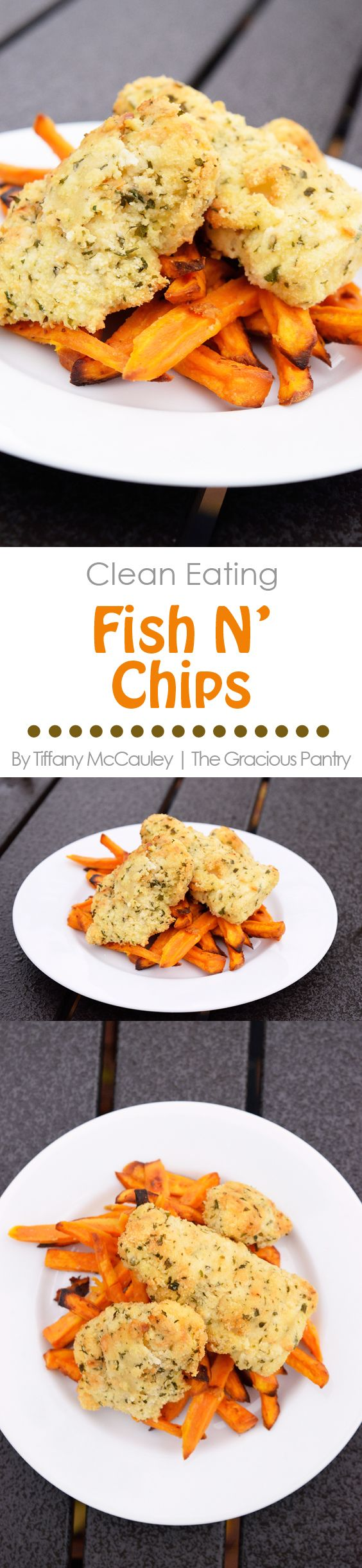 Clean Eating Recipes | Fish N' Chips Recipe | Fish And Chips Recipe | Healthy Dinner ~ https://www.thegraciouspantry.com