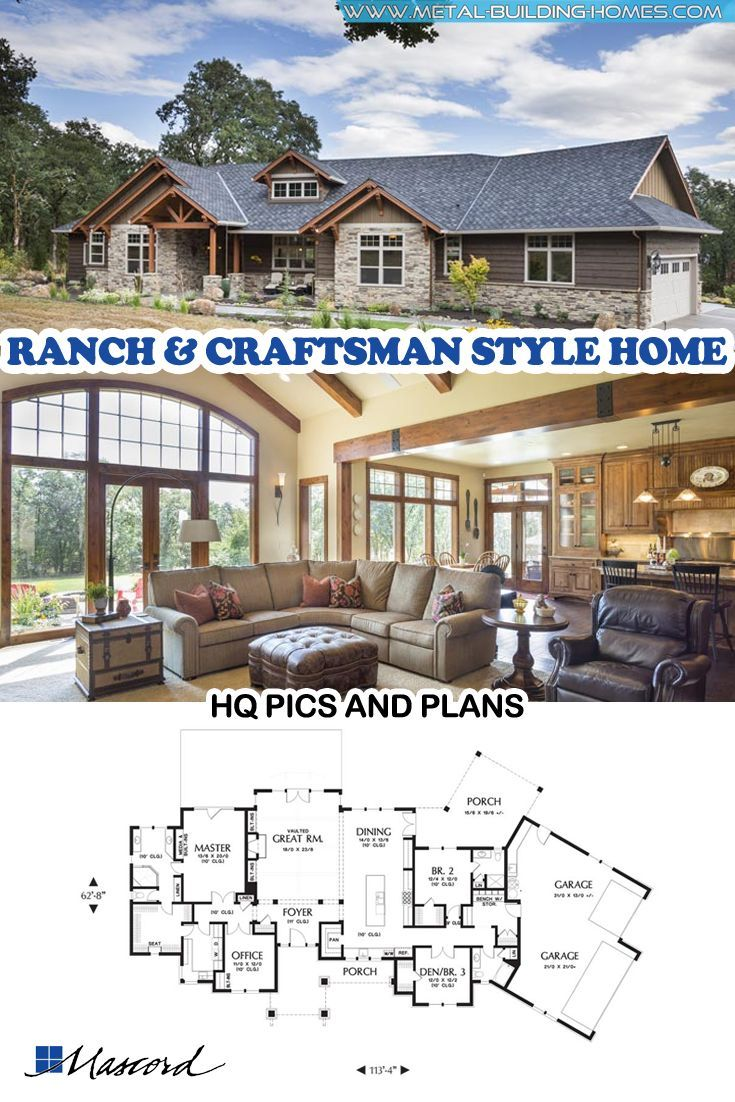 Jaw Dropping Mix Of Ranch Craftsman Style Home Craftsman Style Bungalow Craftsman Style House Plans Craftsman Style Homes