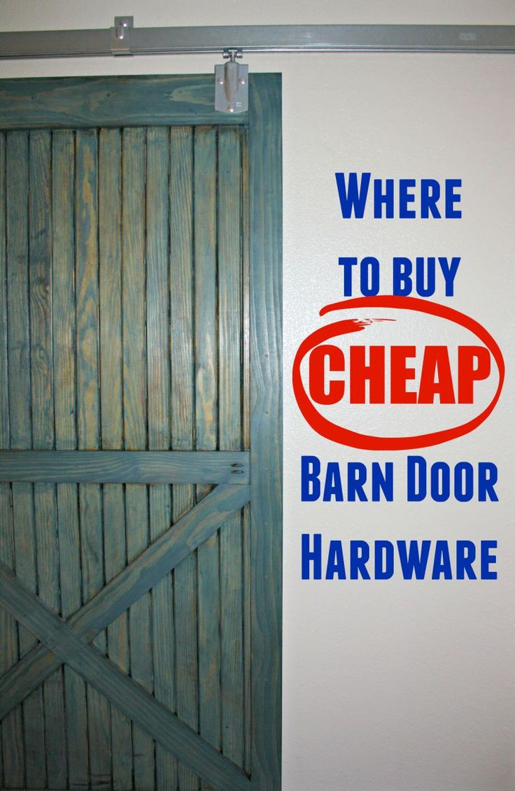 After searching spendy boutique hardware websites, I found the barn door hardware we needed locally and CHEAP!