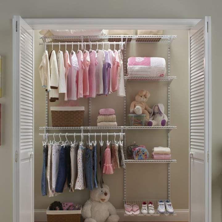 Closetmaid Shelftrack 60 W 96 W Closet System Closet System Dorm Room Inspiration Baby Closet