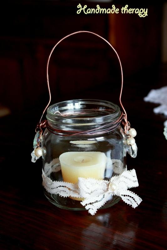 Handmade Therapy: Riciclo: lanterna con un barattolo di nutella!