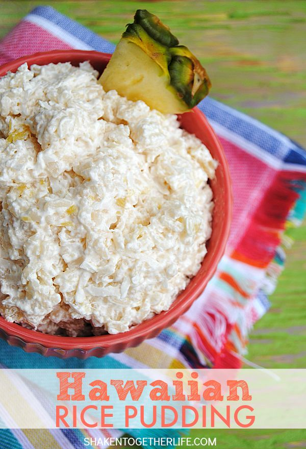 Hawaiian Rice Pudding - or Rice Hawaiian - is a throw back dessert from my grandma!  Cool and creamy, sweet but not overly so, full of pineapple and coconut - this is the perfect classic Summer no bake dessert!