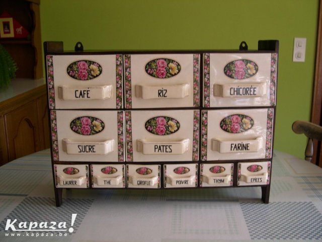 Antiek kruidenrek, Overige keukengerei, Izegem | Kapaza.be