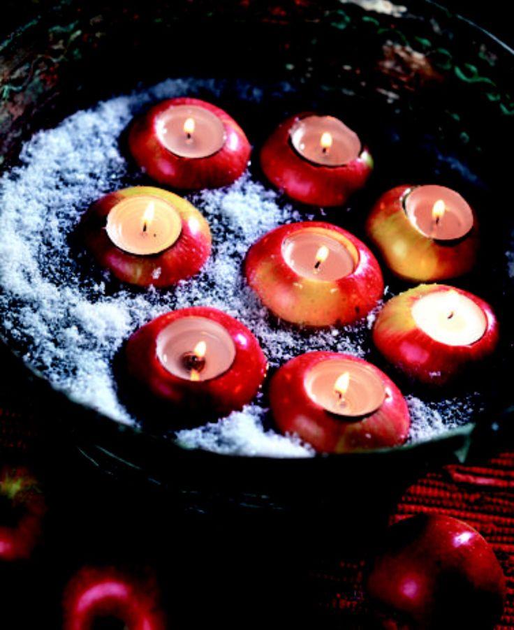 Mele candele ! Un centrotavola di grande effetto  #melecandele #melegg