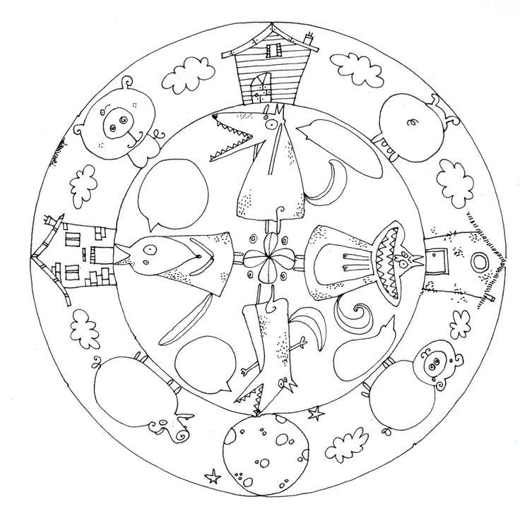 Mandala Tři prasátka