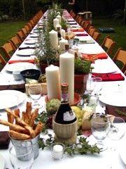 Pretty Italian Table Setting