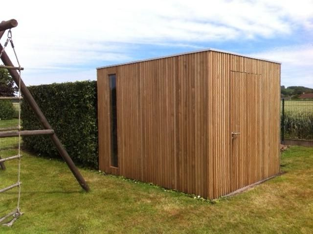Moderne Cube Tuinhuis In Thermowood Blok Tuinhuizen En