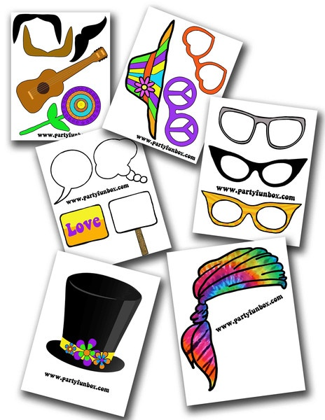 Flower Power Photo Props (6 Page PDF)   .... Groovy!