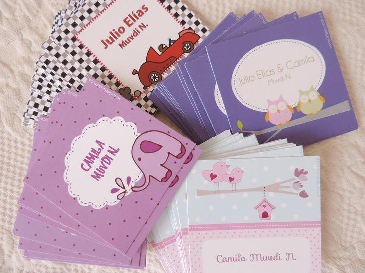 Tarjetas infantiles para marcar tus regalos niñas