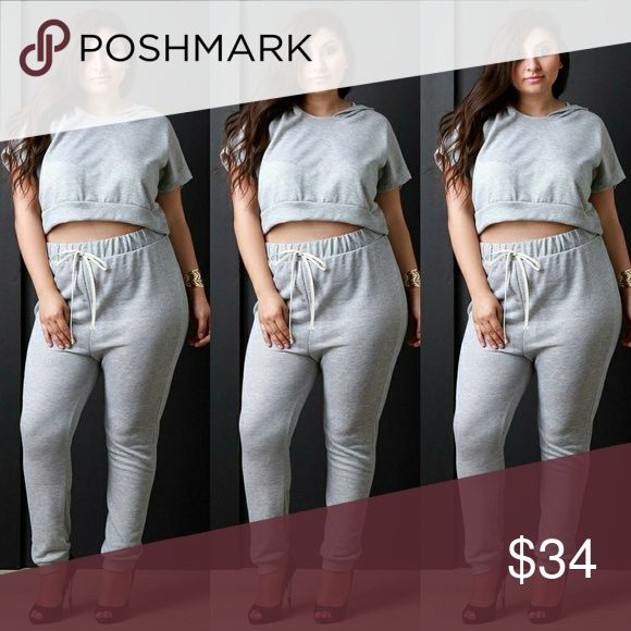 New plus size two piece set top amd joggers 1x New plus size top and joggers 1x Tops
