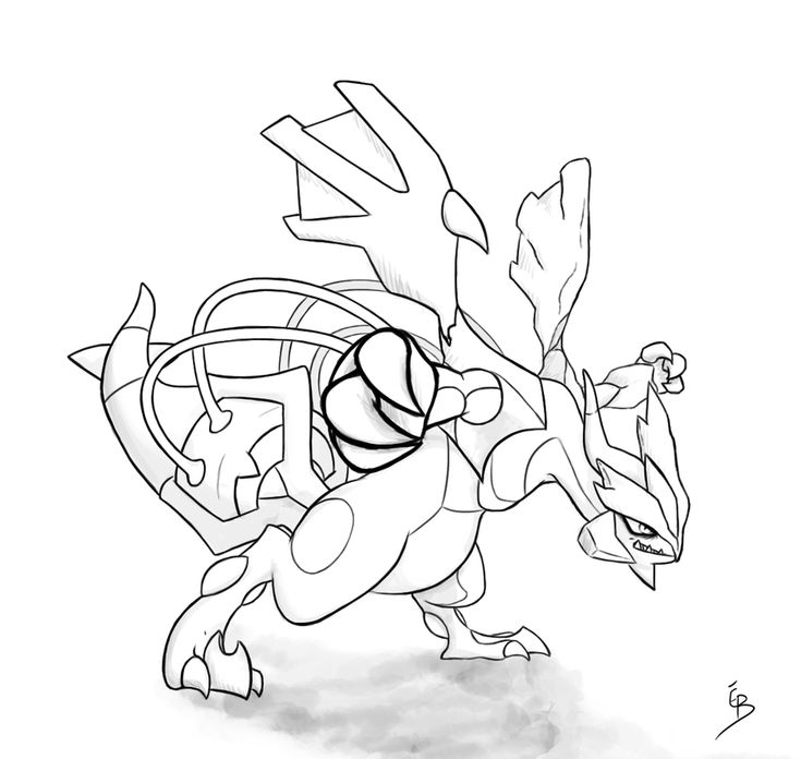 Pokemon Coloring Pages Kyurem Monferno The Pokmon Wiki Black Line Art By Dark Wings Eagle