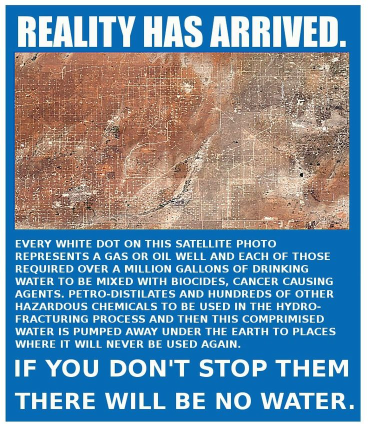 Reality has arrived. • EXTEND YOUR LIFE > http://www.foreverhealthywater.com/fracking-chemicals-why-not.php