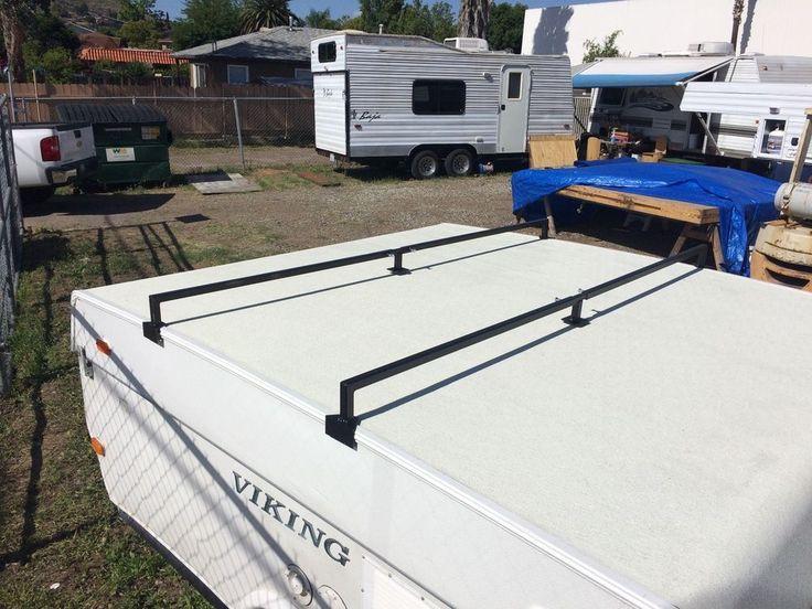 Simple  Camper Roof Rack  Square Crossbars  Steel SportRack Ladder Racks