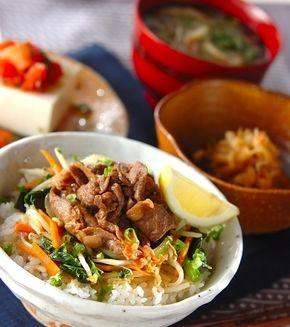 焼き肉丼」の献立・レシピ - 【E・レシピ】料理のプロが作る簡単レシピ ... 焼き肉丼の献立
