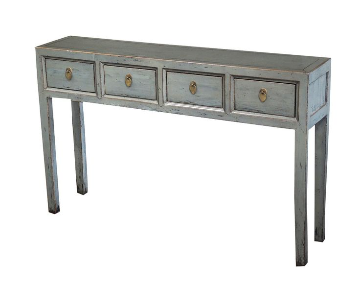 Cement Gray Console Table With Drawers From Terra Nova Furniture Los  Angeles By TerraNovaLA On Etsy