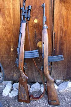 Mini-14(.223/5.56mm) & M1 carbine(.30cal)