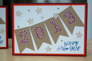 Stampin' Up! Card  by Julie Kettlewell at Julie's Japes: Happy New Year cards