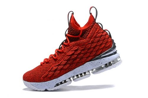 more photos c0d64 a1f6a Newest Nike LeBron 15 University Red White Mens Basketball ...