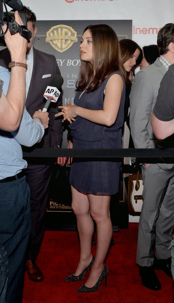 Mila Kunis and Channing Tatum at CinemaCon in Las Vegas to promote their new film, Jupiter Ascending