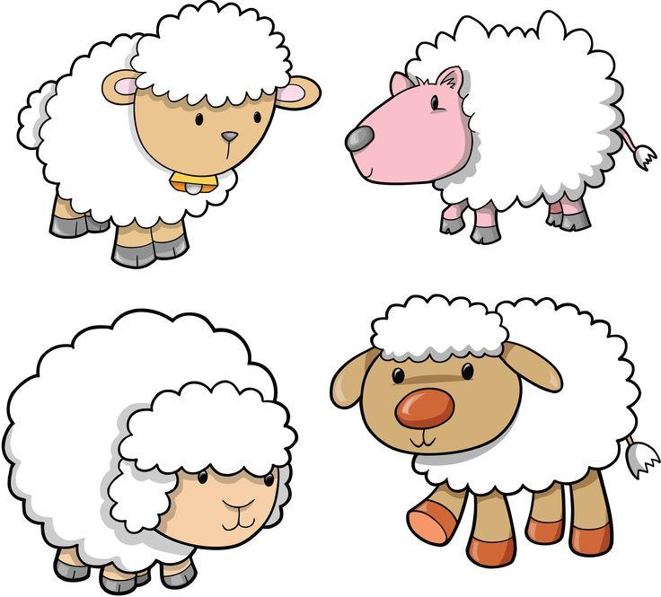 Картинки овечка для детей нарисованные, картинки толстый худой