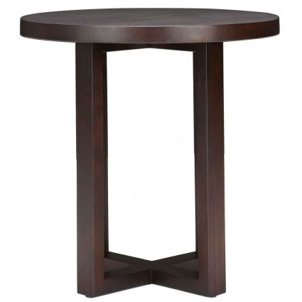 Criss Cross Round Side Table from Domayne
