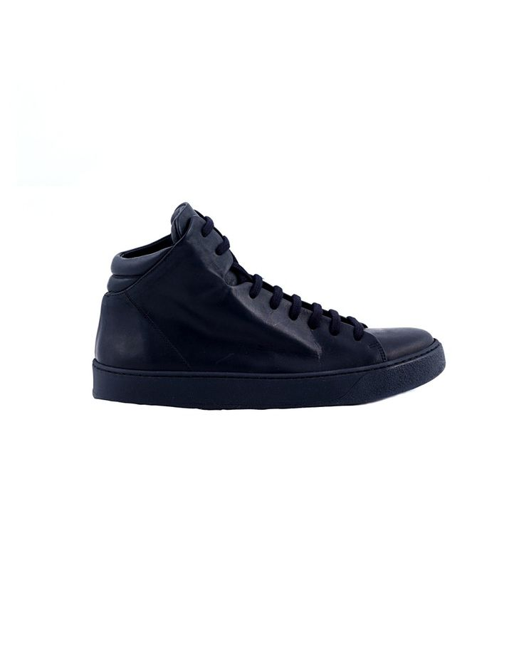 THE LAST CONSPIRACY SNEAKERS MAN Njal black sneakers Washed leather with laces vegetable dye rubber sole