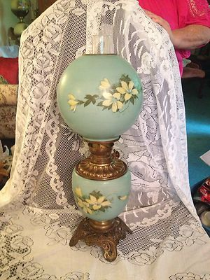 Consolidated Glass Oil Lamp Circa 1900 Gone With The Wind   EBay · Antique  Oil LampsVintage ...