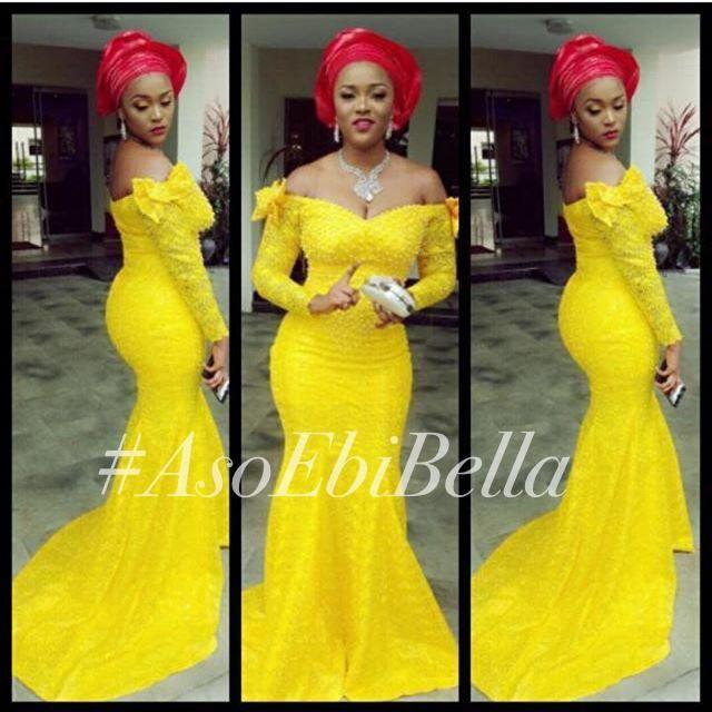 ba8fecc05269 aso ebi Styles bellanaija Mermaid Evening Dresses Nigeria Lace Long Sleeves  Off Shoulder Wedding Party Prom Pageant Bridesmaid Gowns in 2019   vestido  ...