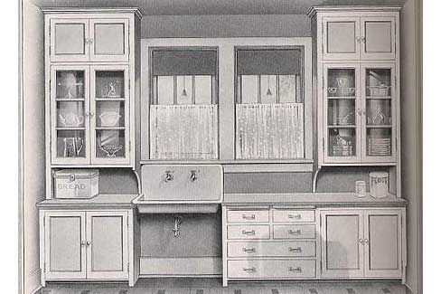 what a 1912 kitchen used to look like (california bungalow style)