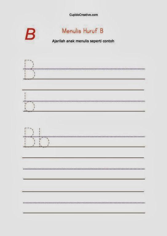 belajar anak TK/balita, latihan menulis huruf kecil & huruf besar, A-Z