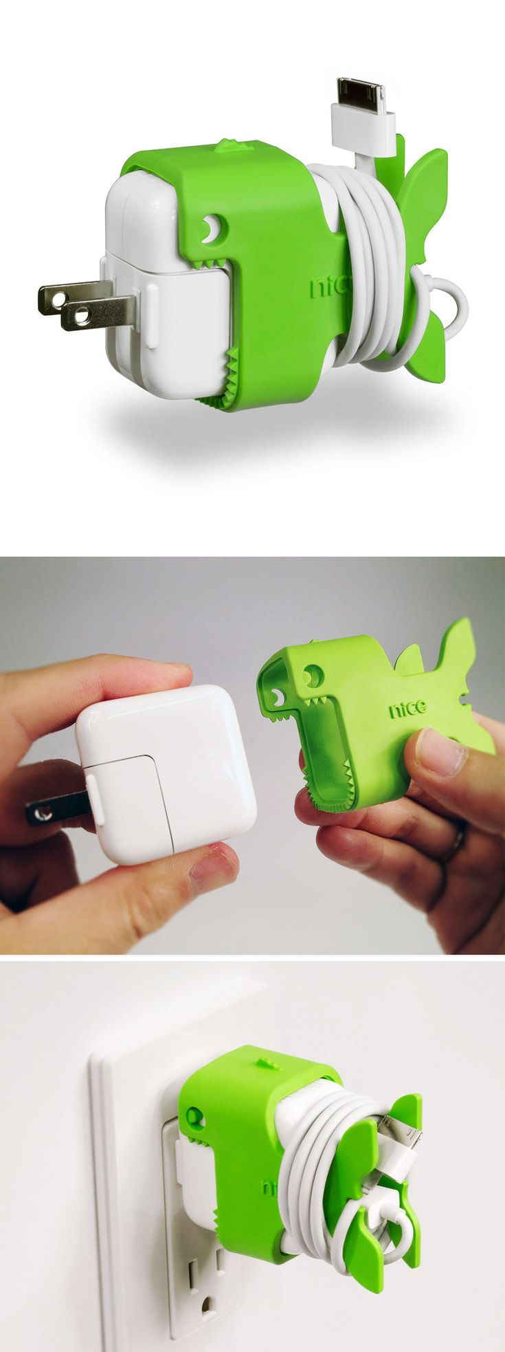 Nibbles the Fish cable holder // cute way to organize your iThing charger! Nice!