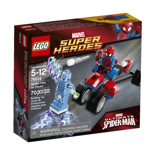 Spider-Trike vs. Electro LEGO Super Heroes 76014: Spider-Trike vs. Electro  No description (Barcode EAN = 5054230561409).  http://www.comparestoreprices.co.uk/lego-games/spider-trike-vs-electro-lego-super-heroes-76014-spider-trike-vs-electro.asp