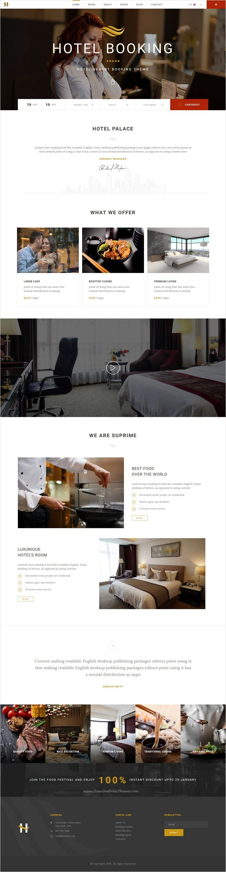 Houston is a beautifully design #Bootstrap template online booking #Hotel #website with 2 unique homepage layouts download now➩ https://themeforest.net/item/houston-online-hotel-booking-template/17391008?ref=Datasata