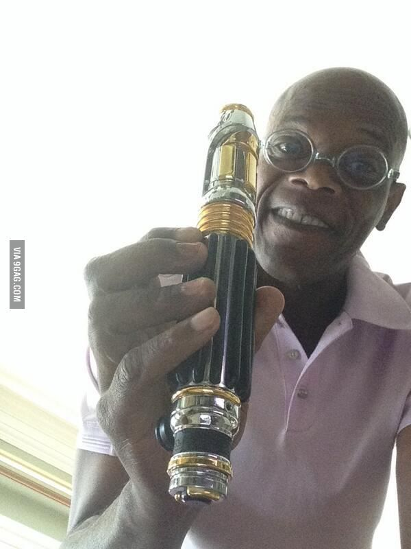 Samuel L. Jackson and his vaporizer.