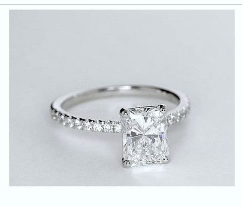 1.26ct Radiant Cut Diamond Engagement Ring H-Si1 JEWELFORME BLUE GIA certified