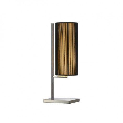 Nostalux Tafel lamp Tafel lampen LASSON, TL-1, Tafellamp, rond, zwart, E27