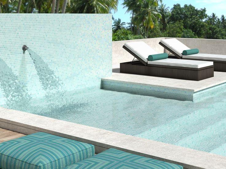 Rivestimento piscine / Mosaico in vetro riciclato HONEY SHELL by VIDREPUR