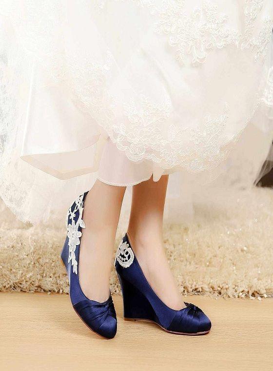 612ddedffb61 307 Inspirational Satin Bridal Shoes Blue Wedding Shoes