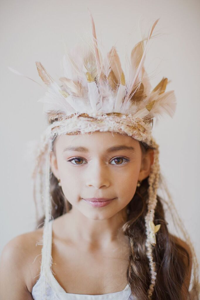 The Golden Sahara Feather Crown
