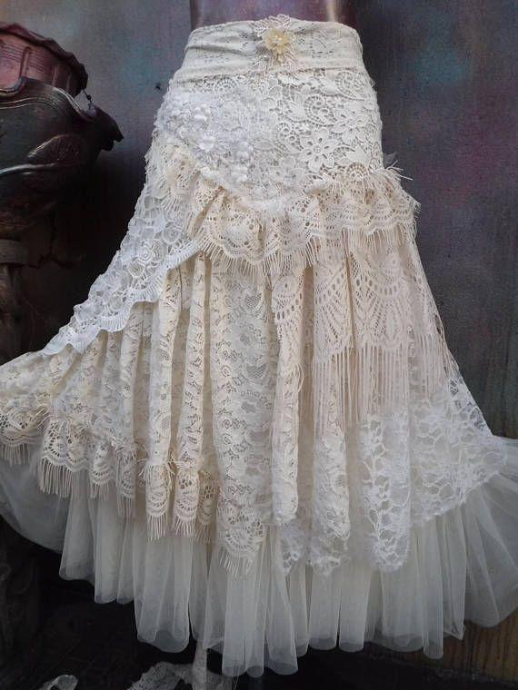 20% de descuento de novia nupcial jirones boho fantasía