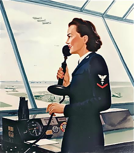 """Three Minute Hero"" - Air Traffic control poster, circa WWII  Poster, John P. Falter, 1943"