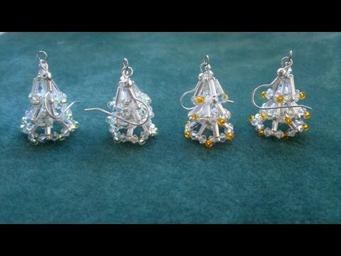 Beading4perfectionists : Christmas tree earring (video version) beginning beaders tutorial - YouTube