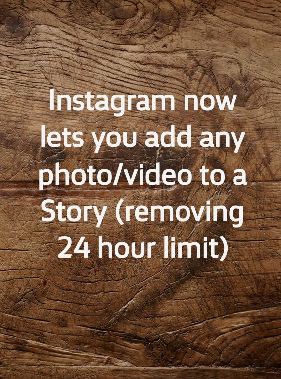 Instagram is turning on a feature that many users have asked for, letting users add pics and vid from their camera roll – even if they're older than 24 hrs. The limitation in place previously seemed designed to encourage Stories to be more of a repository for spur of the moment sharing (as well as a more accurate copy of the original Snapchat product), but IG seems to be fine with sacrificing spontaneity in favor of giving users more flexibility.