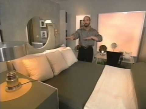 City Studio Apartment Makeover -- Christopher Lowell. I used to watch his show all the time--he always had great ideas!
