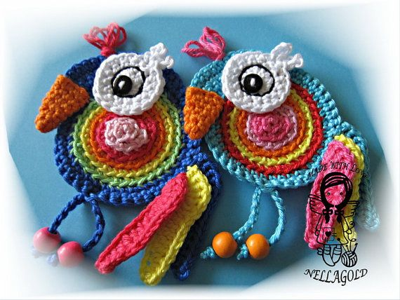 Crochet PATTERN Applique Parrot Patch by NellagoldsCrocheting