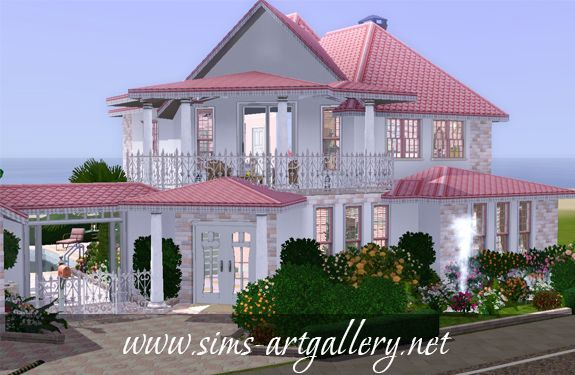 Strawberry mousse house http://www.sims-artgallery.net/en/gallery/sims-3/lots/residential-lots/small/312/
