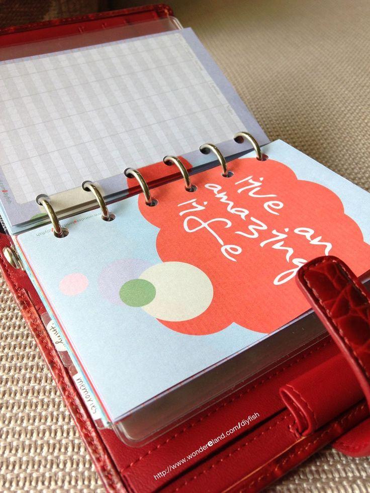 DIYfish | Printables for Pocket Filofax | Amazing Life | Life Mapping Theme