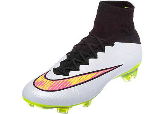 White and Pink Nike Mercurial Superfly Firm Ground Soccer Cleats | SoccerMaster.com