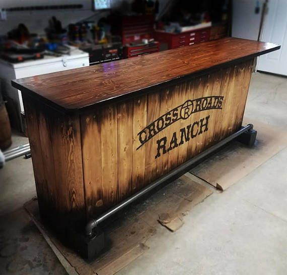 ***SHIPPING IS NOT INCLUDED ***Made to order custom bar. Price will vary depending on total length. Any color finishes or themes can be used. Rustic style bar and top. Please contact prior to ordering to review details you want in your design and answer any questions. !!!!!!!! SHIPPING